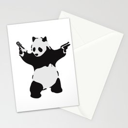 Banksy Pandamonium Armed Panda Artwork, Pandemonium Street Art, Design For Posters, Prints, Tshirts Stationery Cards