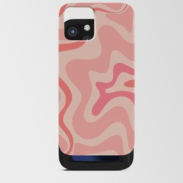 Liquid Swirl Abstract in Soft Pink iPhone Card Case