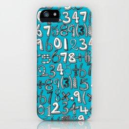 math doodle blue iPhone Case