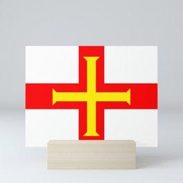 Flag of The Channel Island Of Guerseney Mini Art Print