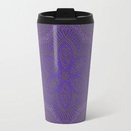 Violet Star Mandala Travel Mug
