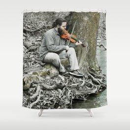 Fiddler on the Creek Shower Curtain