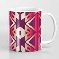 burgundy Mugs featuring burgundy edge by design lunatic