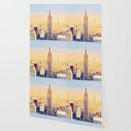 New York City Sunset Glow Wallpaper