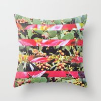 hippie Throw Pillows featuring Hippie Hippie Hourrah   by Djuno Tomsni