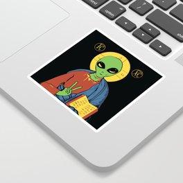 Alien Jesus - Funny Political Print Sticker