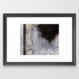 the thin black line Framed Art Print