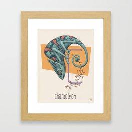 C is for Chameleon Framed Art Print