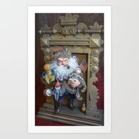 Rucus Studio Santa Claus with Toys Art Print