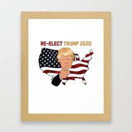 Re-Elect Trump 2020 Make Liberals Cry Again T-Shirt Framed Art Print