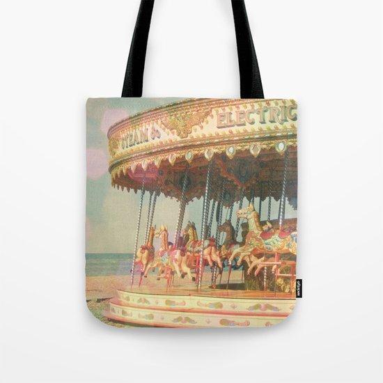 Circling Horses Tote Bag
