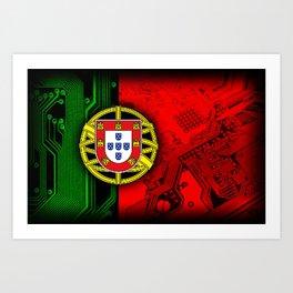 circuit board Portugal (Flag) Art Print