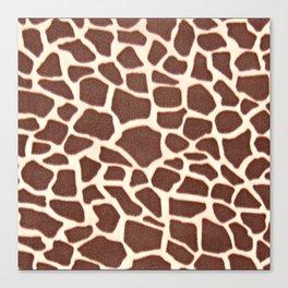Giraffe Animal Pattern Print Canvas Print