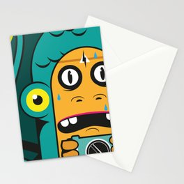 Danger at the moment of the click Stationery Cards