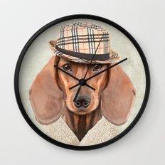 The stylish Mr Dachshund Wall Clock