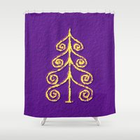 christmas tree Shower Curtains featuring Christmas Tree* by Mr & Mrs Quirynen