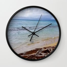 Driftwood On The Beach Wall Clock
