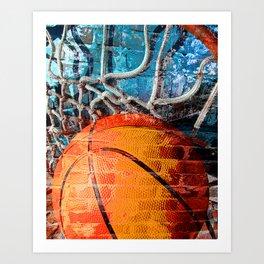 Basketball art swoosh vs 14 Art Print