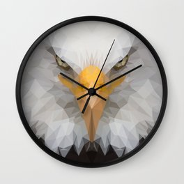Low Poly Eagle Portrait Wall Clock