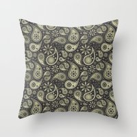 paisley Throw Pillows featuring Paisley by Sixter