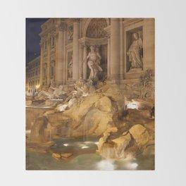 Trevi Fountain - Rome, Italy Throw Blanket