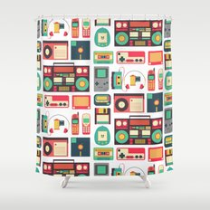 RETRO TECHNOLOGY 1.0 Shower Curtain