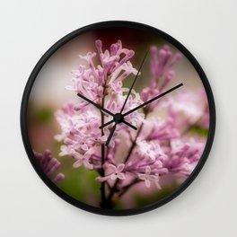 Lilacs - Orton-ized Wall Clock