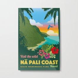 Na Pali Coast Travel Poster Metal Print