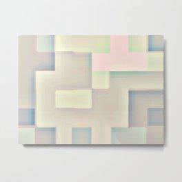 Checkered soft Metal Print