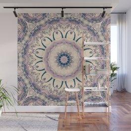 Rue des Glycines -- Vintage Cream and Lavender Purple Mandala Wall Mural