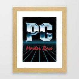 PC Master Race 80s Framed Art Print