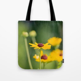 Portrait of a Wildflower in Summer Bloom Tote Bag