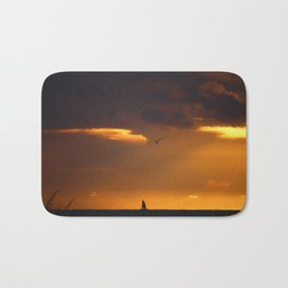 Saiboat at Sunset Bath Mat