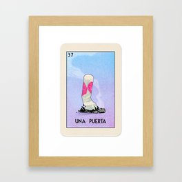 BB Loteria Card No.37 - A Door Framed Art Print