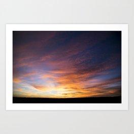Bending Sky Art Print