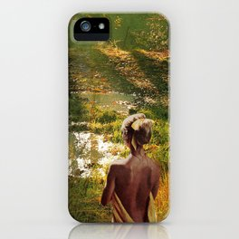 Lady Of The Puddle iPhone Case