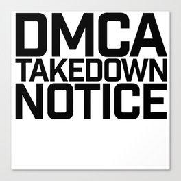 DMCA Canvas Print