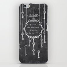 the key is laughter iPhone & iPod Skin