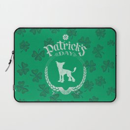St. Patrick's Day Chinese Crested Funny Gifts for Dog Lovers Laptop Sleeve