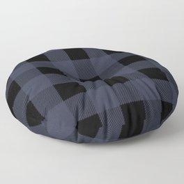 Blue Buffalo Plaid Floor Pillow