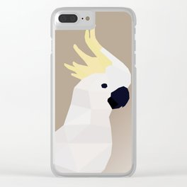 COCKATOO BIRD LOW POLY ART Clear iPhone Case