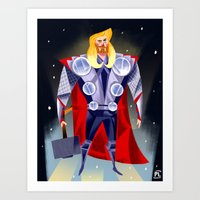 thor Art Prints featuring Thor by ArtsyPabster