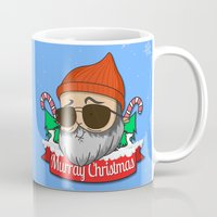 murray Mugs featuring Murray christmas by KickPunch