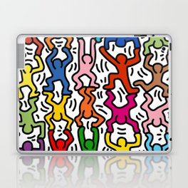 Homage to Keith Haring Acrobats II Laptop & iPad Skin
