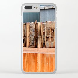 Lobster Traps in Wait Clear iPhone Case