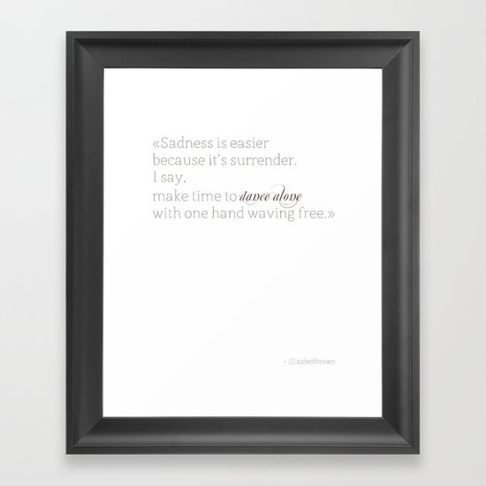 Elizabethtown Quote Framed Art Print