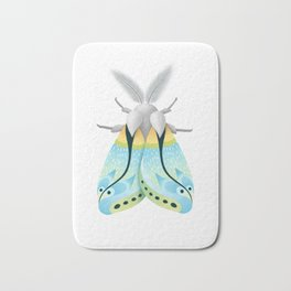 Blue Moth Bath Mat