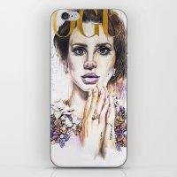 lana iPhone & iPod Skins featuring Lana by Kim Morrow