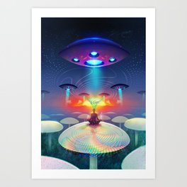 Deep Meditation Art Print