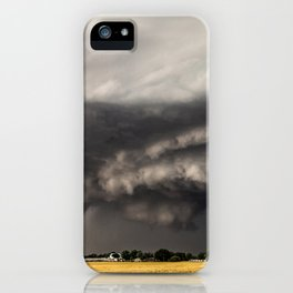 Ominous - Storm Looms Over Small Town In Oklahoma iPhone Case